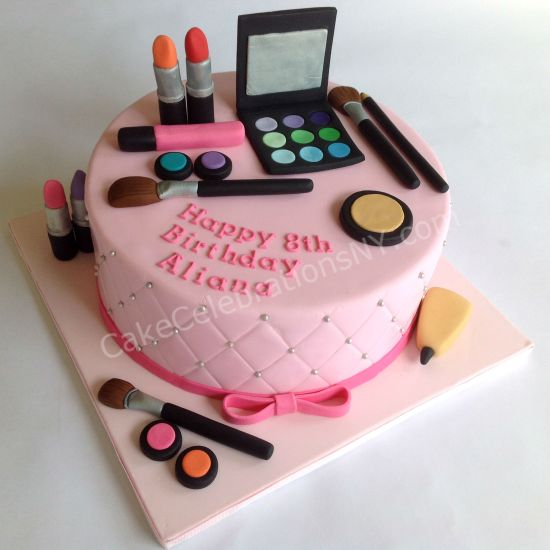 Makeup Birthday Cake Cake Celebrations