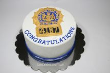 NYPD Detective Badge Cake