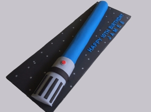 Star Wars Lightsaber Cake